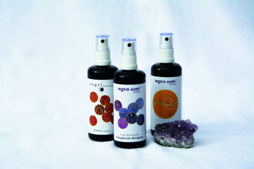 3 Spray Bottles Near Purple Geode #49850