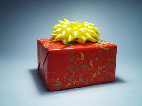 Red and Yellow Gift Wrap Free Photo