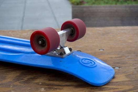 Blue board longboard red Free Photo