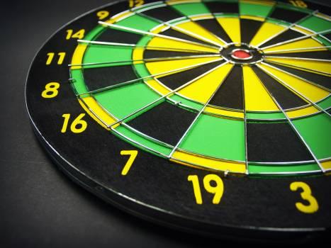 Green Yellow and Black Dartboard Free Photo