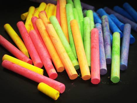 Pink Yellow Green and Blue Chalk #50093