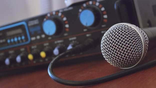 Tilt Shift Photography of Microphone #50126