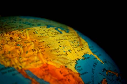 Yellow Map Free Photo