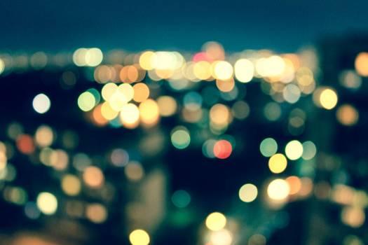 Blurred bokeh illuminated lights Free Photo