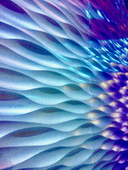 Abstract colorfu discovery place wavy wall Free Photo