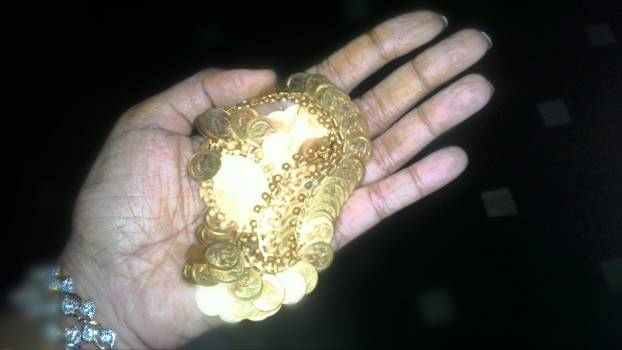 Gold coated ornament #51306