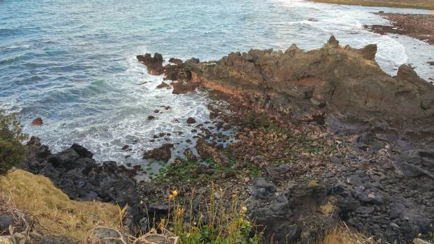 Jeju korea rock formation sea wave #51645