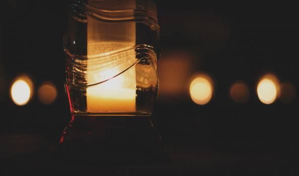 Pillar Candle Inside Glass Bottle #51739