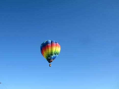 Adventure air balloon blue sky Free Photo