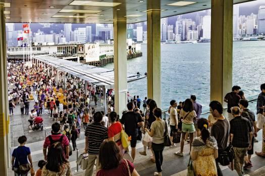 Asia china city commuters Free Photo