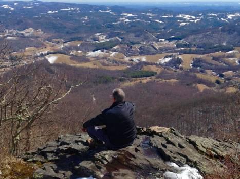 Guru meditation mountain Free Photo