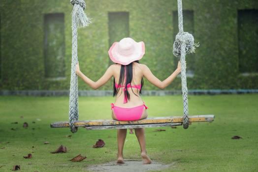 Adult fun girl grass #52807