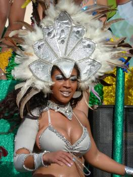 Beautiful woman carnival dancer feathers #52814