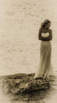Bride dress girl model #52819
