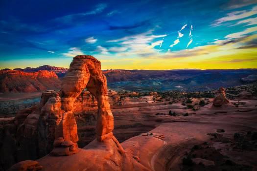 Arches national park clouds desert dusk #52949
