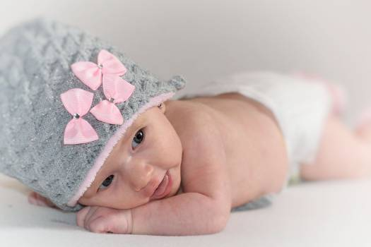 Adorable baby baby girl beanie #53470