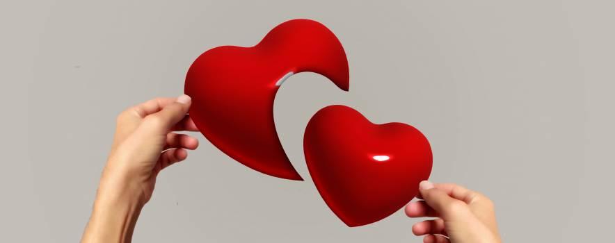 Broken heart emotion hands heart Free Photo