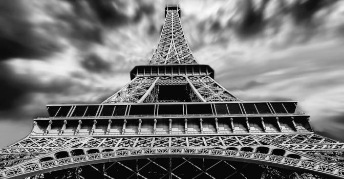 Architecture black and white eiffel tower landmark Free Photo