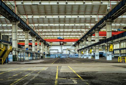 Architecture building empty factory Free Photo