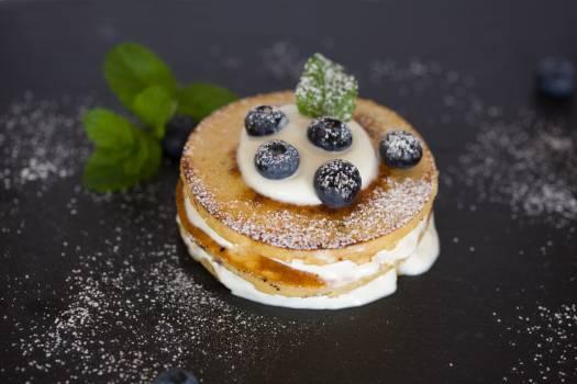 Berries blueberries cake cream Free Photo