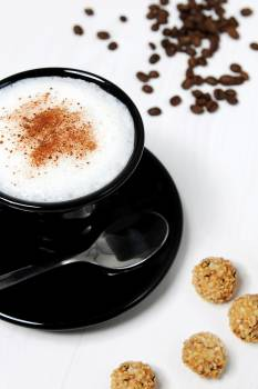 Beverage caffeine cappuccino coffee Free Photo