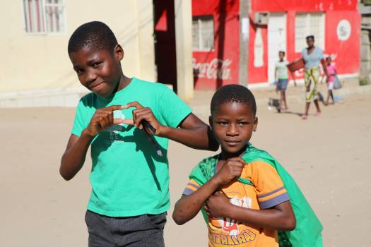Africa children heart street Free Photo