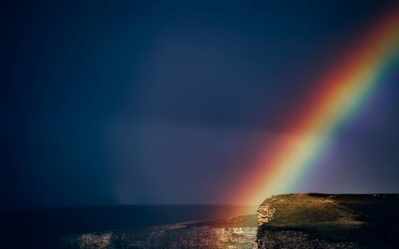 After storm beautiful cliff clouds Free Photo