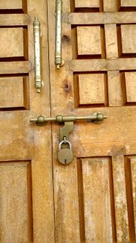 Door lock retro wooden door #54548