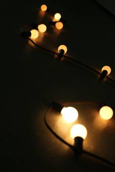 Abstract blur bright bulbs #55049