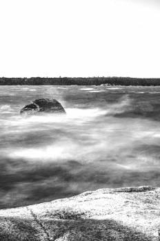 Black and white lake long exposure #56019