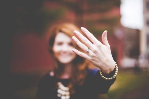 Engaged engagement ring girl hand Free Photo