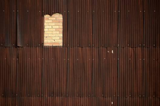 Brickwall construction empty hole #56768