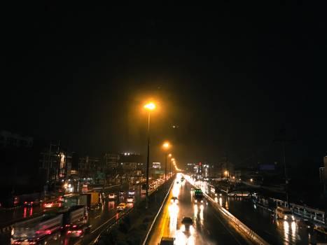 Bangkok nightlight raining thailand #57383