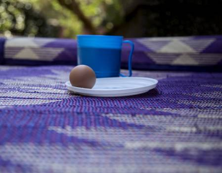 Africa boiled egg breakfast mat #58295