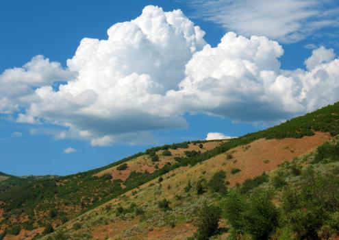 Clouds hill landscape nature #58403