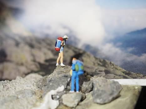 Alps hiking minature people miniature #58503