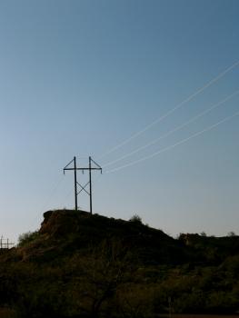Arizona cliff perspective power lines #58572