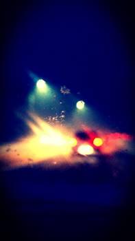 Cars lights snow traffic #58761