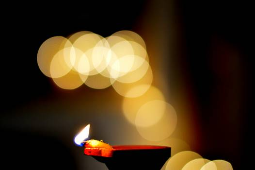 Blurred bokeh candle fire Free Photo