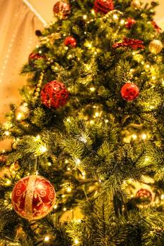 Blur celebration christmas christmas balls Free Photo