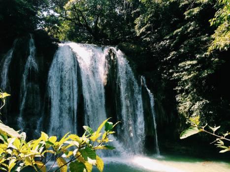 Scenic view of waterfall #59460