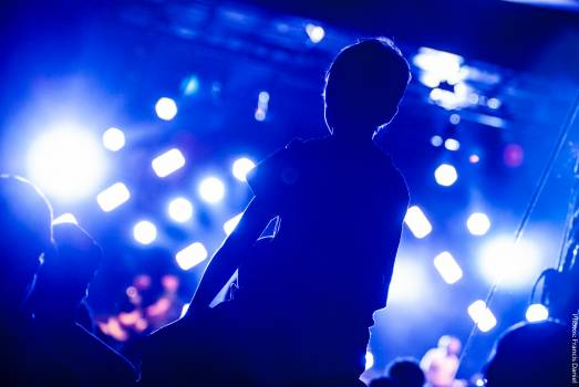 Man Watching Concert Free Photo