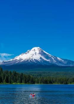 Scenic View of Lake Against Mountain Range #60039