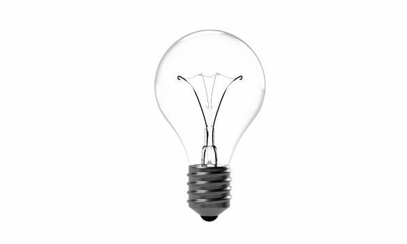 Light Bulb Against White Background Free Photo