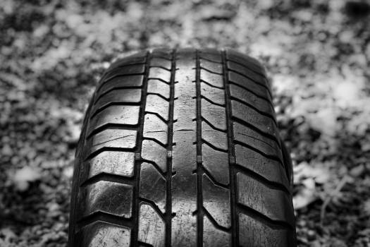 Close-up of Tire Against Blurred Background #60281