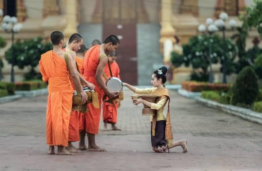 Theravada Buddhist Monk On Street Free Photo