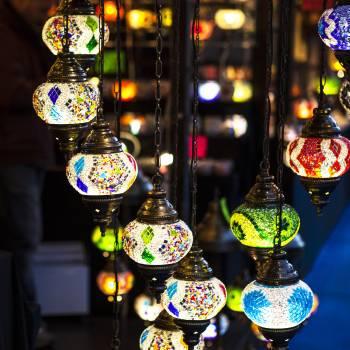 Close-up of Illuminated Lamp #60844