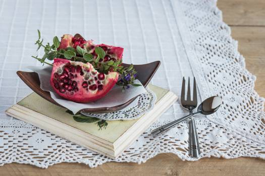 Close-up of Fruits in Plate Free Photo