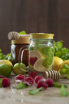 Close-up of Fruits in Jar Free Photo