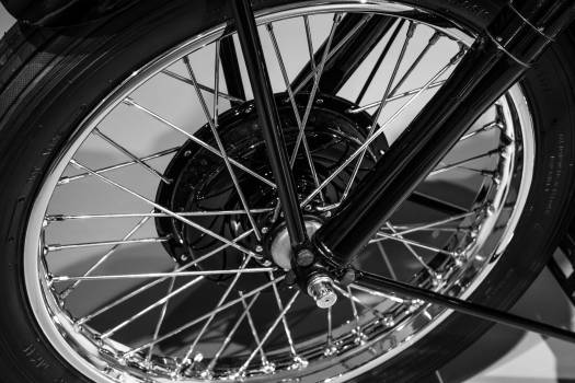 Close-up of Bicycle Wheel Free Photo